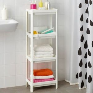VESKEN Shelf unit, white - 14 1/8x9x39 3/8, NWT